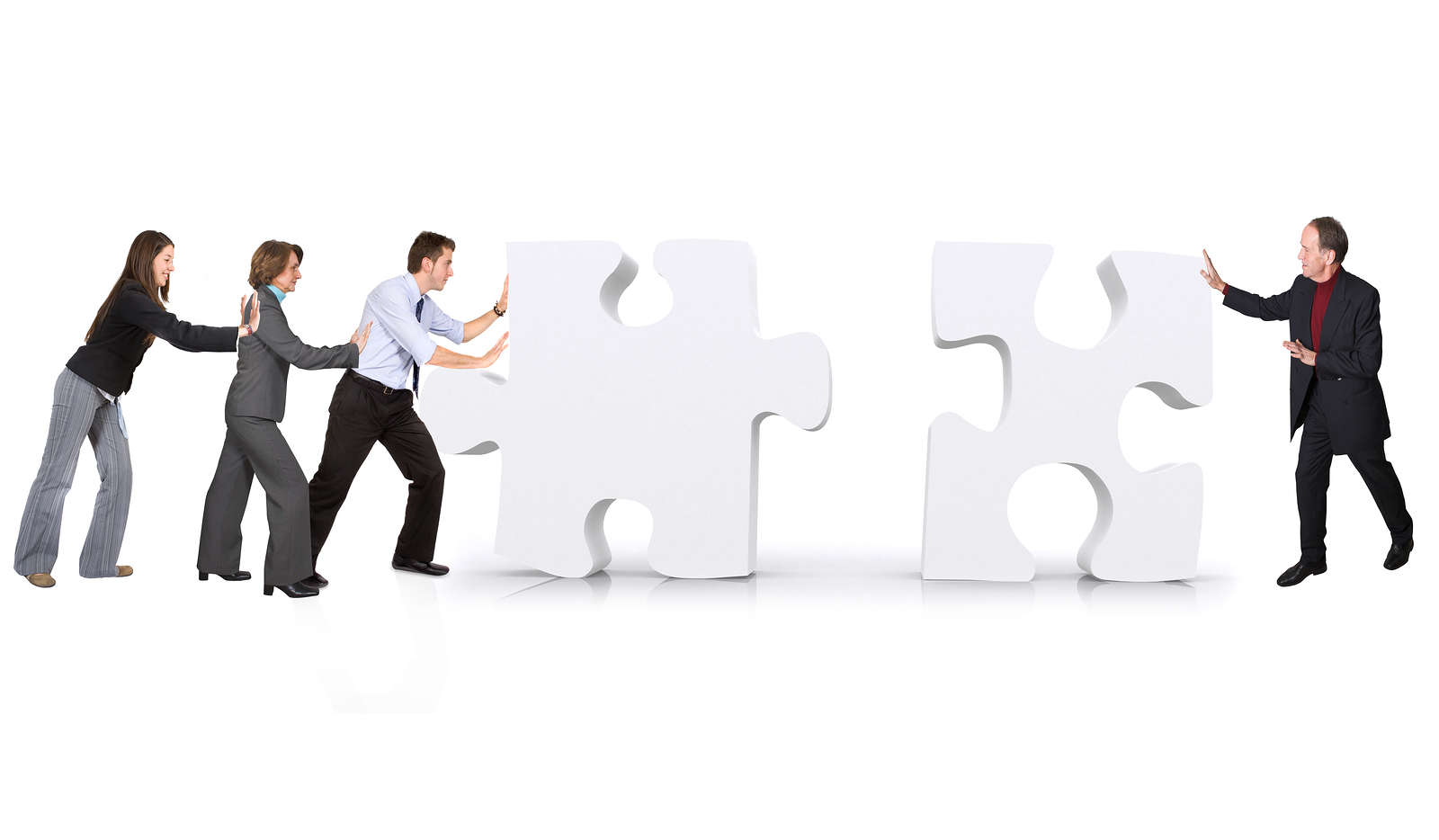 business teamwork - puzzle